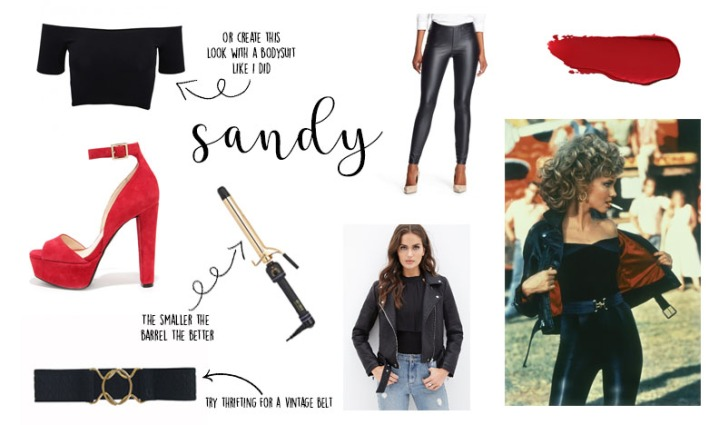 sandy collage