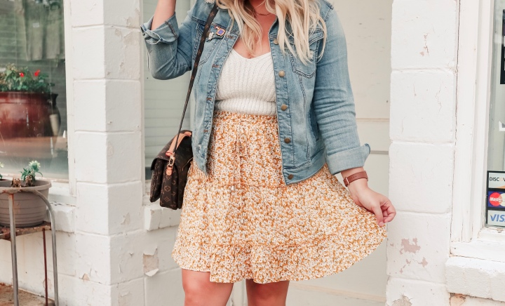 Ditsy Floral Print Skirt